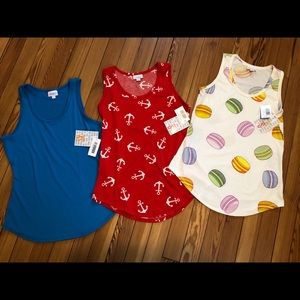 NWT LuLaRoe Tank Top Bundle X-Small and Small